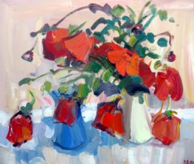 POPPIES IN A STUDIO