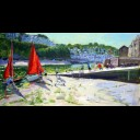 LAUNCHING THE BOATS,LOOE