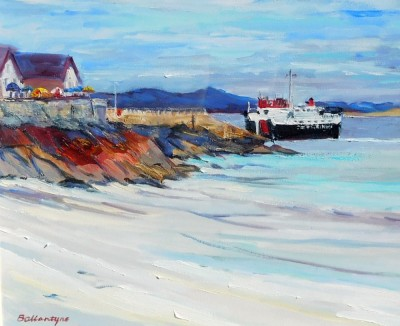 FERRY LEAVING IONA