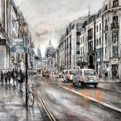 RAIN IN THE CITY OF LONDON