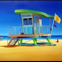 14TH STREET LIFE GUARD HUT SOUTH BEACH FLORIDA
