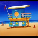 74TH STREET LIFE GUARD HUT SOUTH BEACH FLORIDA