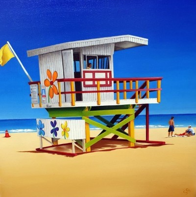 16TH STREET LIFE GUARD HUT SOUTH BEACH FLORIDA