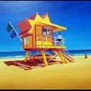 24TH STREET LIFE GUARD HUT SOUTH BEACH FLORIDA